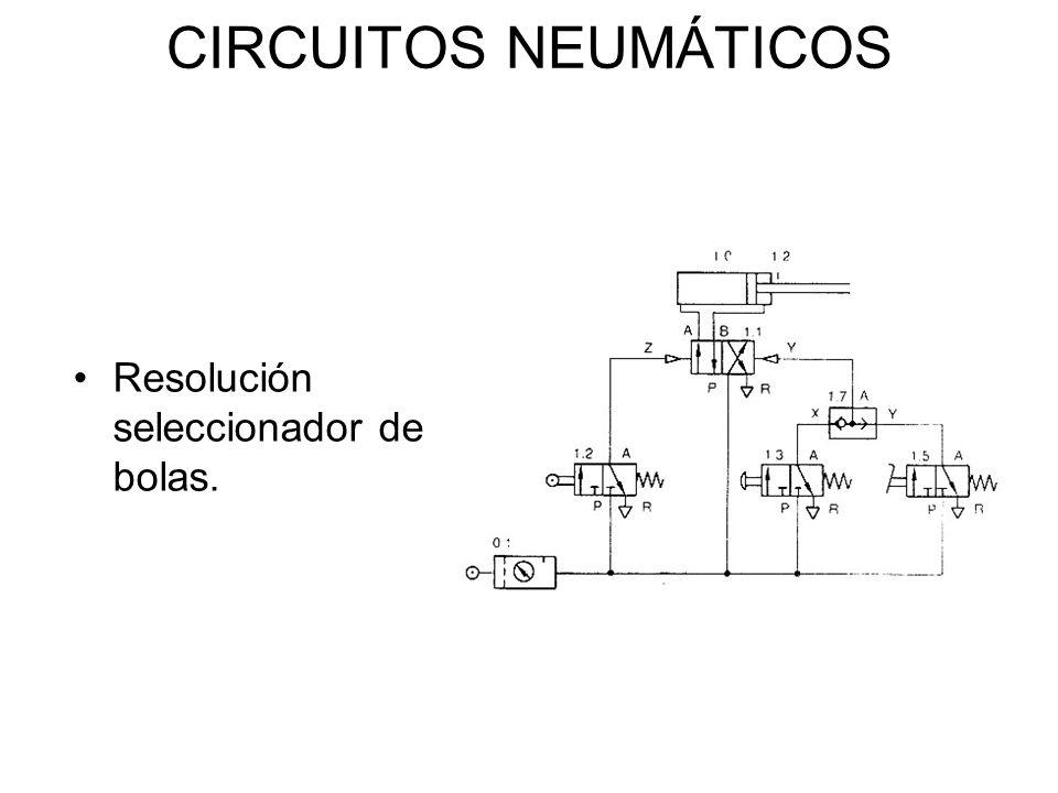 CIRCUITOS NEUMÁTICOS Resolución seleccionador de bolas.