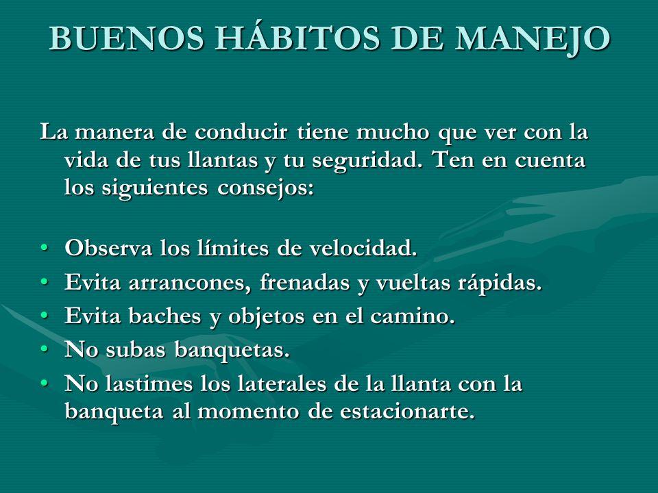 BUENOS HÁBITOS DE MANEJO