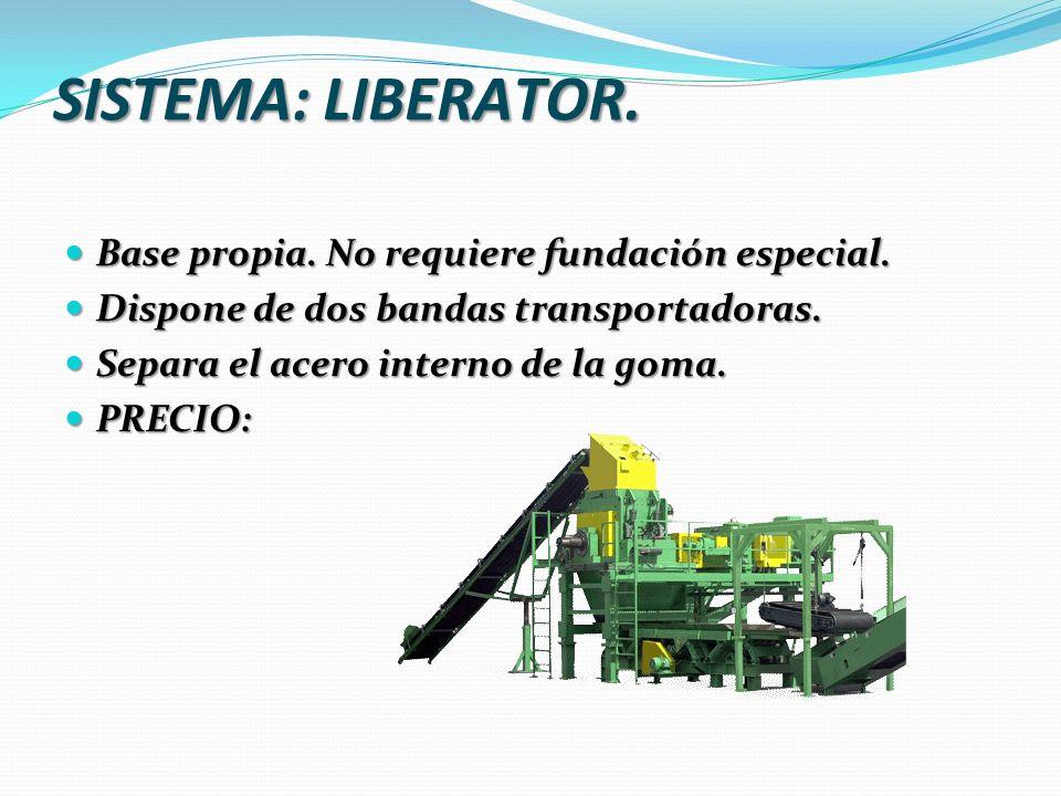 SISTEMA: LIBERATOR. Base propia. No requiere fundación especial.