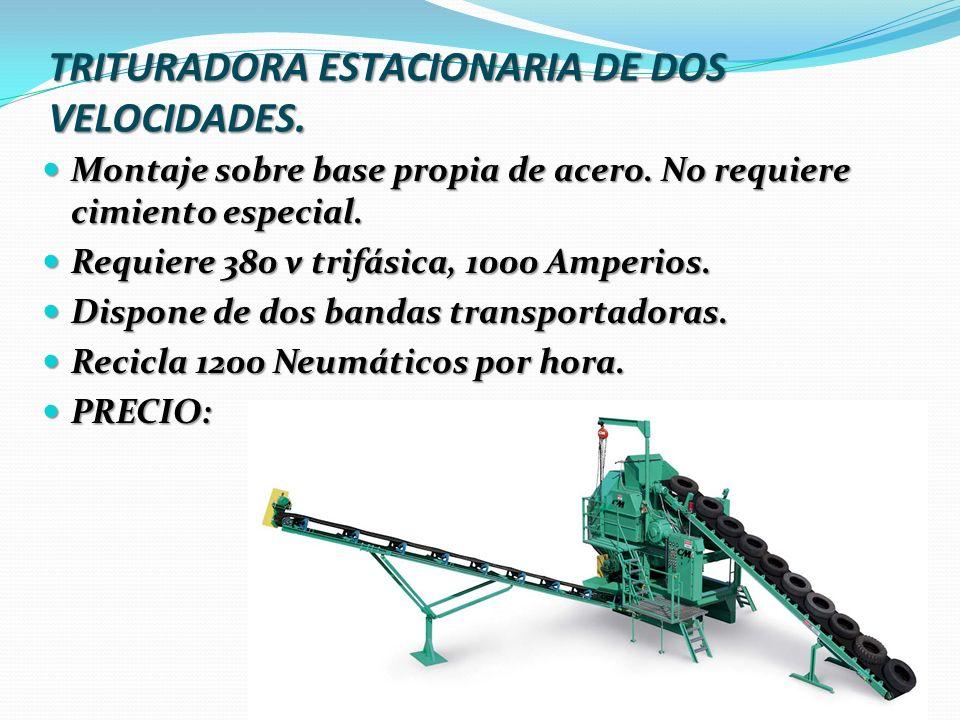 TRITURADORA ESTACIONARIA DE DOS VELOCIDADES.