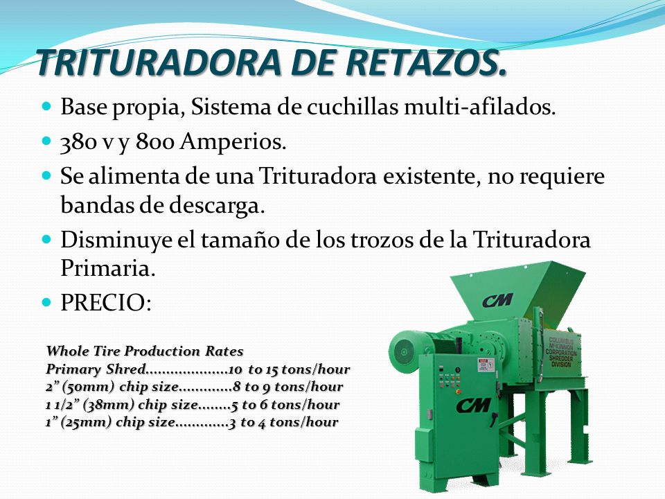 TRITURADORA DE RETAZOS.