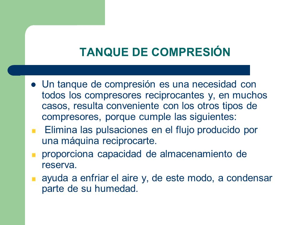 TANQUE DE COMPRESIÓN
