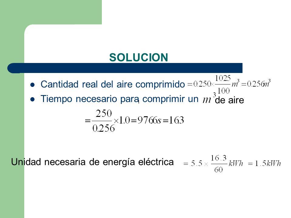 SOLUCION Cantidad real del aire comprimido