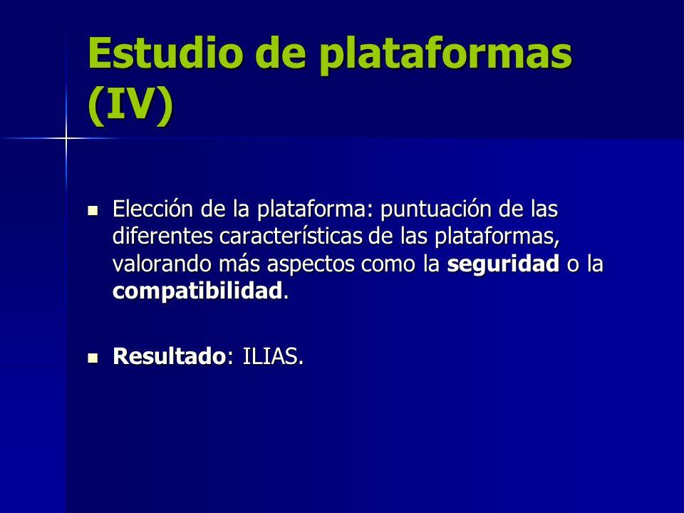 Estudio de plataformas (IV)