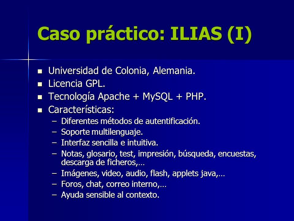 Caso práctico: ILIAS (I)
