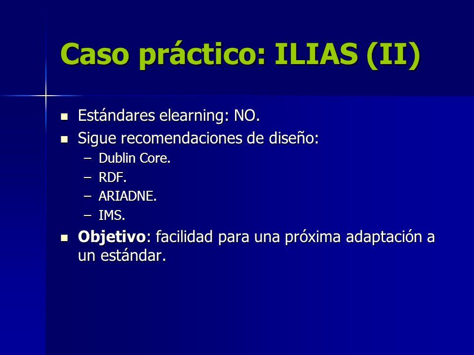 Caso práctico: ILIAS (II)