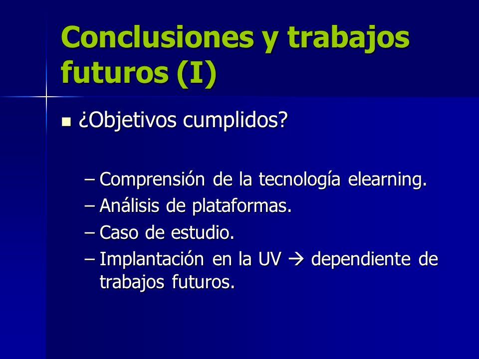Conclusiones y trabajos futuros (I)