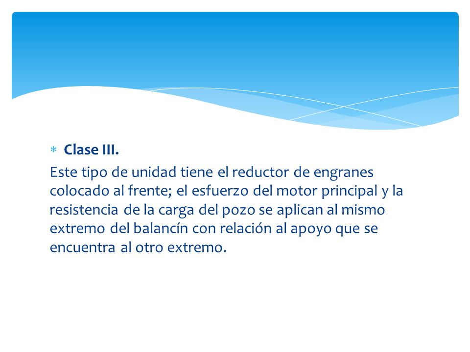 Clase III.