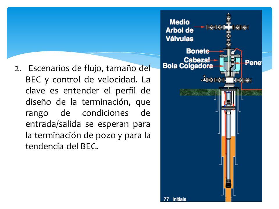 2. Escenarios de flujo, tamaño del BEC y control de velocidad