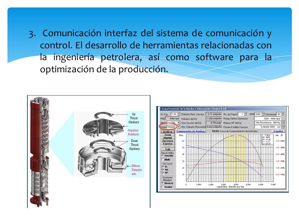 3. Comunicación interfaz del sistema de comunicación y control
