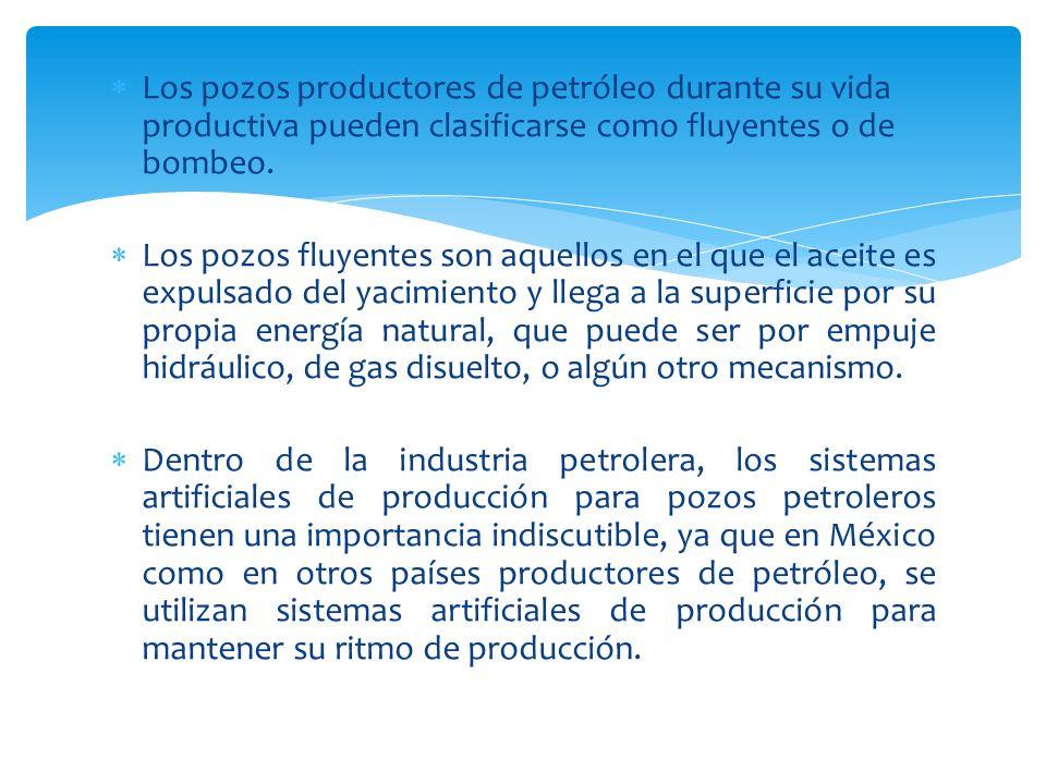 Los pozos productores de petróleo durante su vida productiva pueden clasificarse como fluyentes o de bombeo.