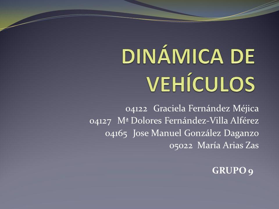 DINÁMICA DE VEHÍCULOS 04122 Graciela Fernández Méjica