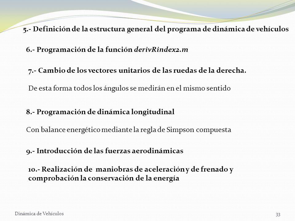 6.- Programación de la función derivRindex2.m