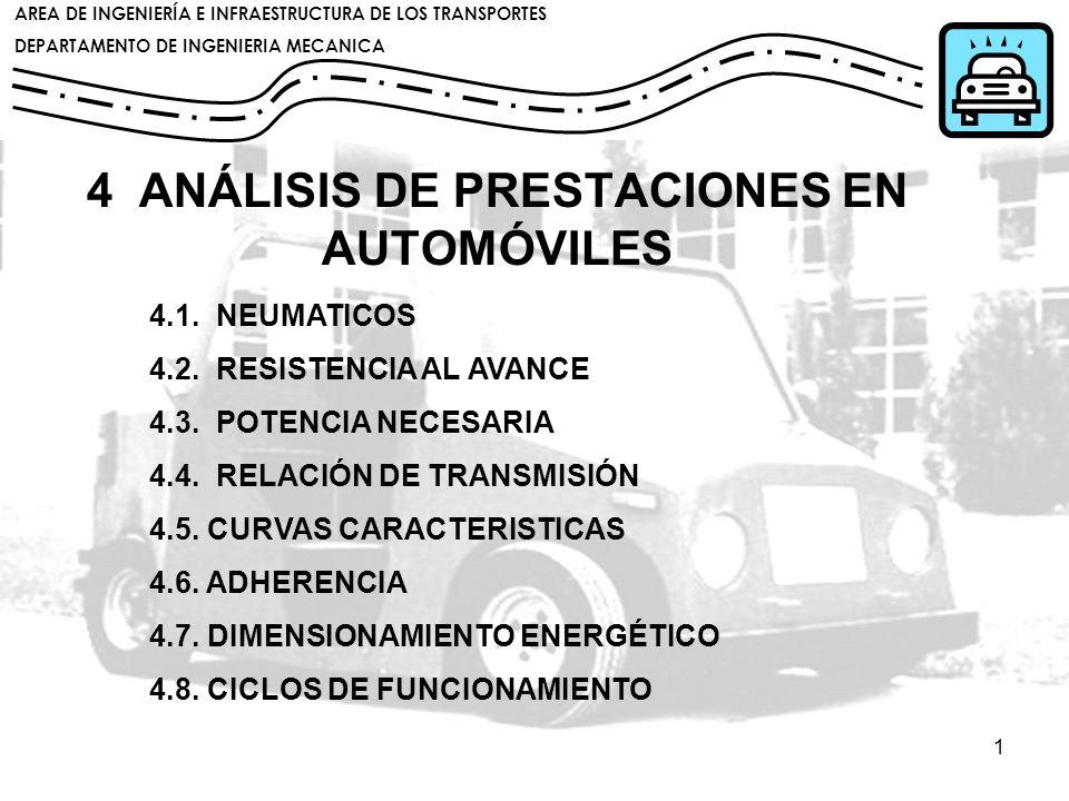 4 ANÁLISIS DE PRESTACIONES EN AUTOMÓVILES
