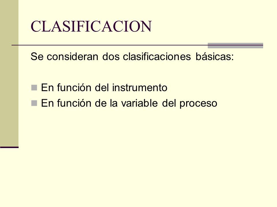 CLASIFICACION Se consideran dos clasificaciones básicas: