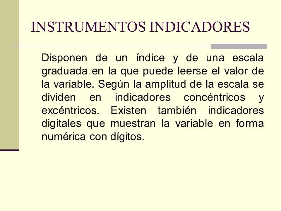 INSTRUMENTOS INDICADORES