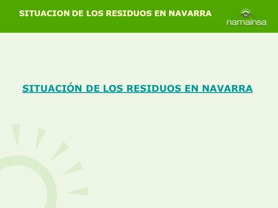 SITUACIÓN DE LOS RESIDUOS EN NAVARRA