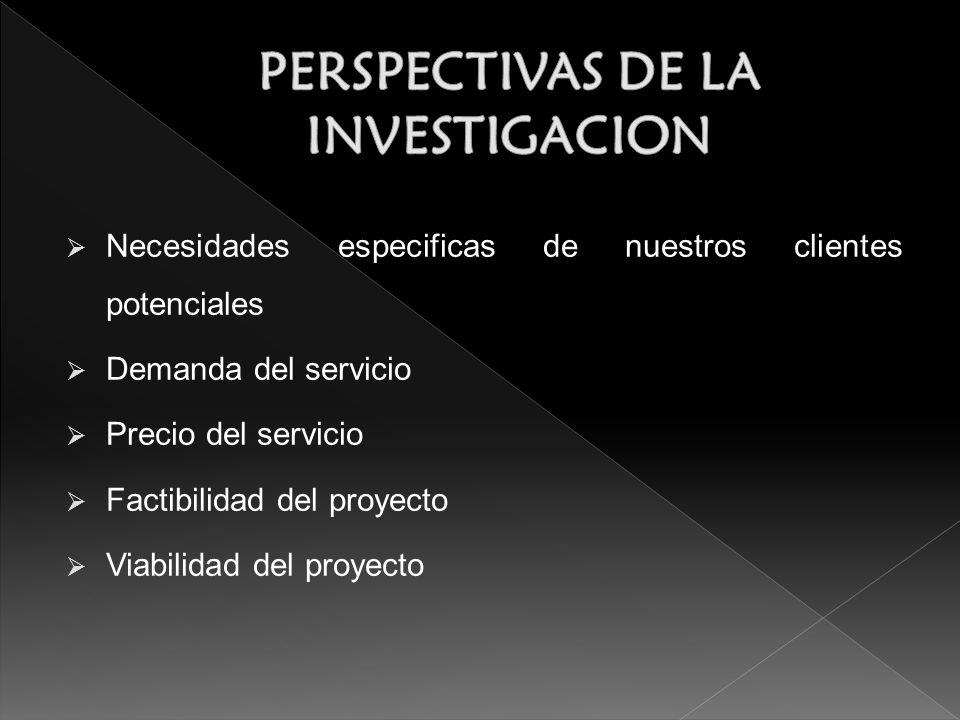 PERSPECTIVAS DE LA INVESTIGACION