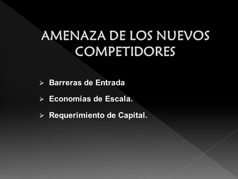 AMENAZA DE LOS NUEVOS COMPETIDORES