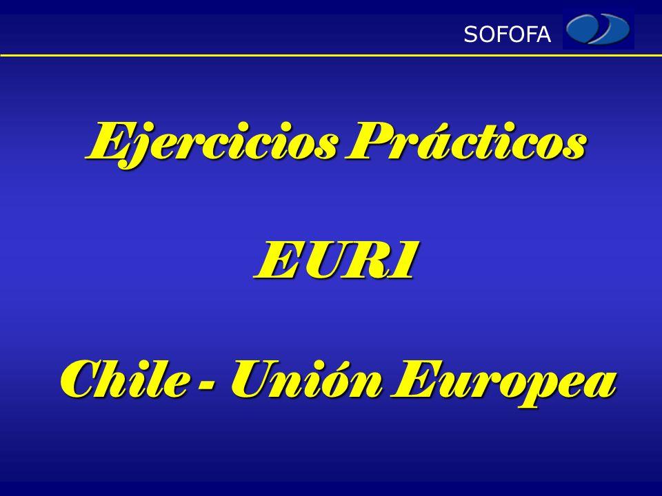 Ejercicios Prácticos EUR1 Chile - Unión Europea
