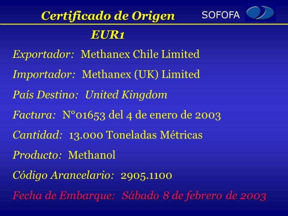Certificado de Origen EUR1