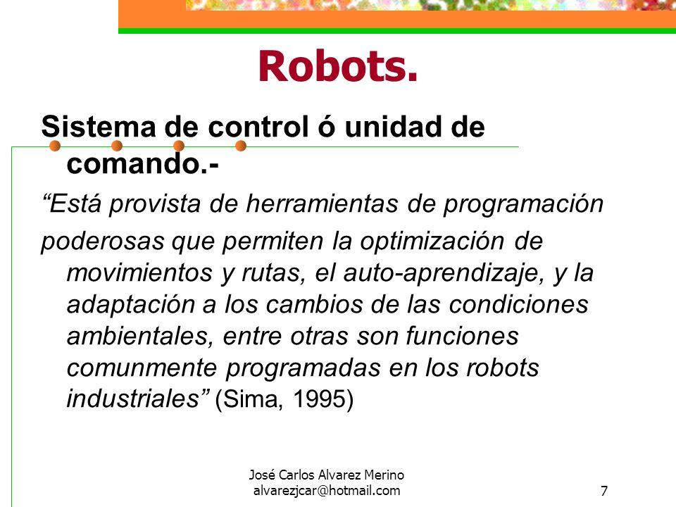 José Carlos Alvarez Merino alvarezjcar@hotmail.com