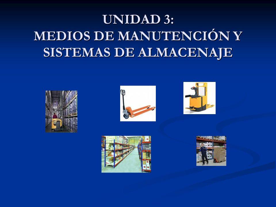 UNIDAD 3: MEDIOS DE MANUTENCIÓN Y SISTEMAS DE ALMACENAJE