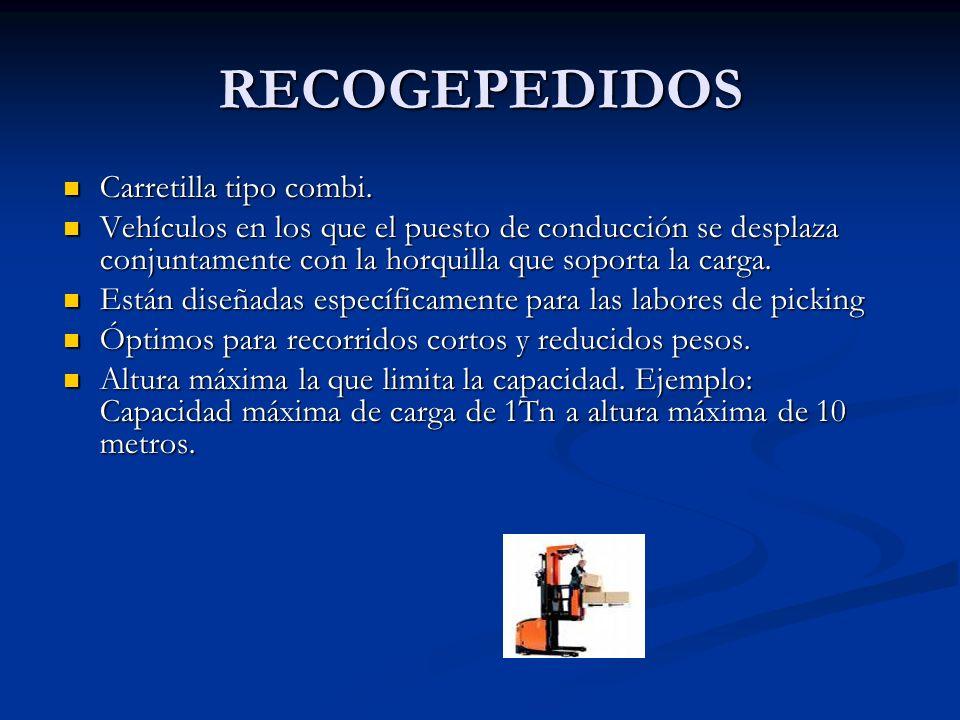 RECOGEPEDIDOS Carretilla tipo combi.