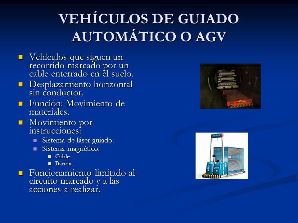 VEHÍCULOS DE GUIADO AUTOMÁTICO O AGV