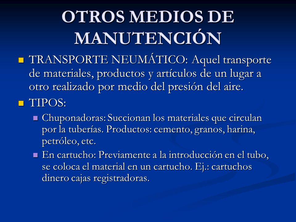 OTROS MEDIOS DE MANUTENCIÓN