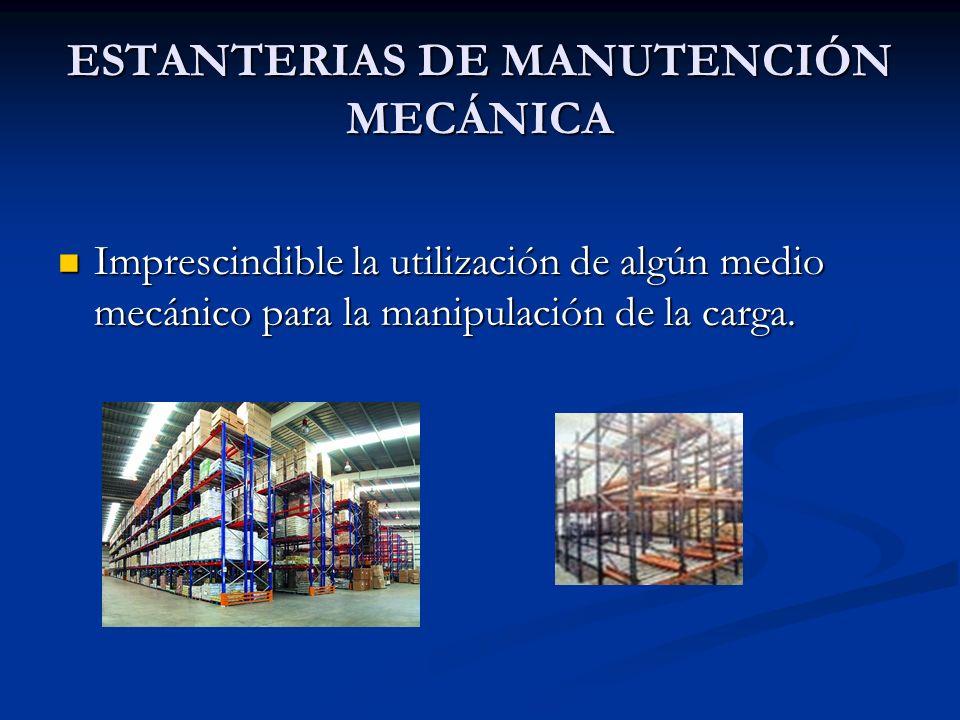 ESTANTERIAS DE MANUTENCIÓN MECÁNICA