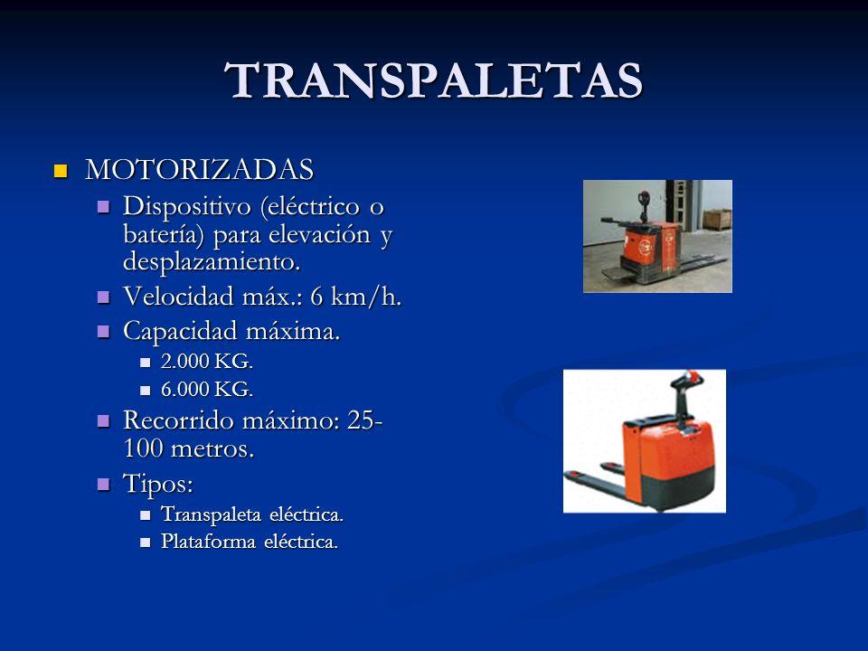 TRANSPALETAS MOTORIZADAS
