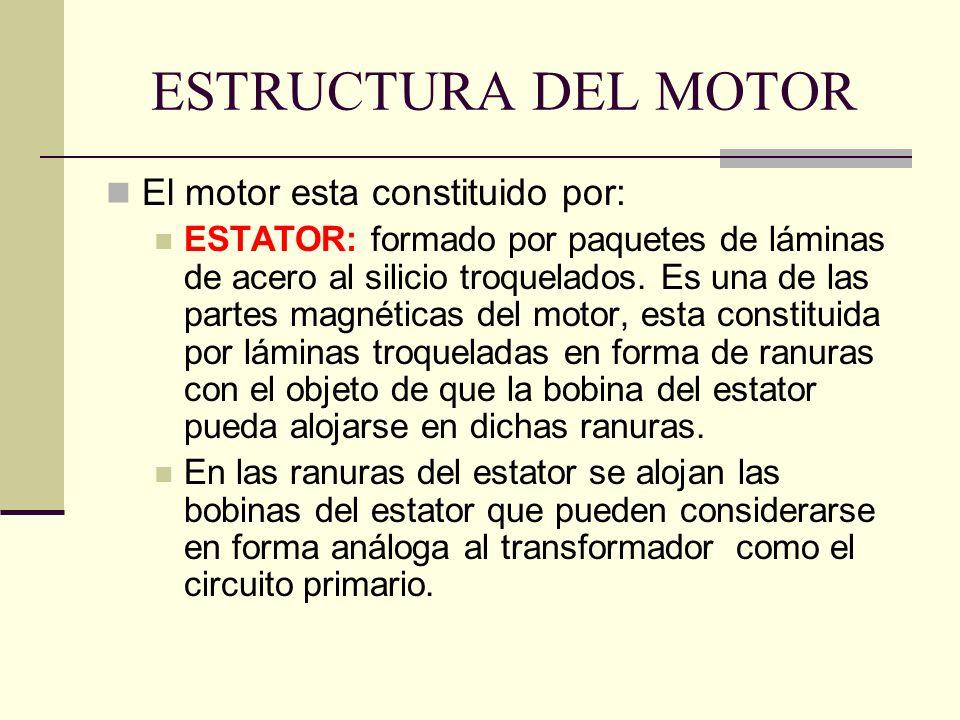 ESTRUCTURA DEL MOTOR El motor esta constituido por: