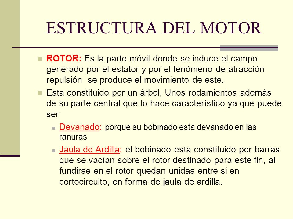 ESTRUCTURA DEL MOTOR