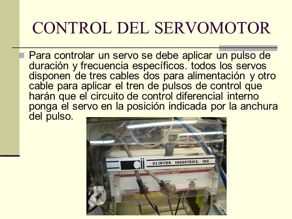 CONTROL DEL SERVOMOTOR