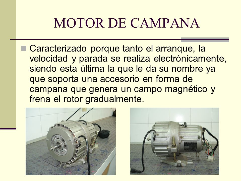 MOTOR DE CAMPANA