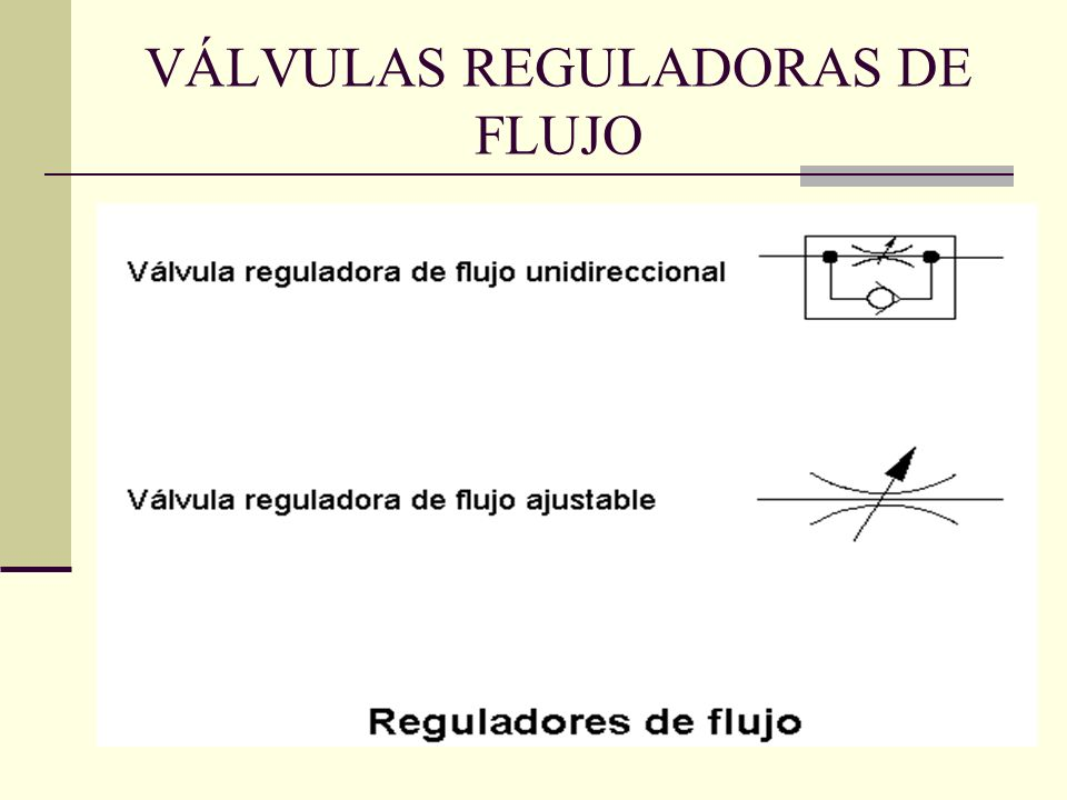 VÁLVULAS REGULADORAS DE FLUJO
