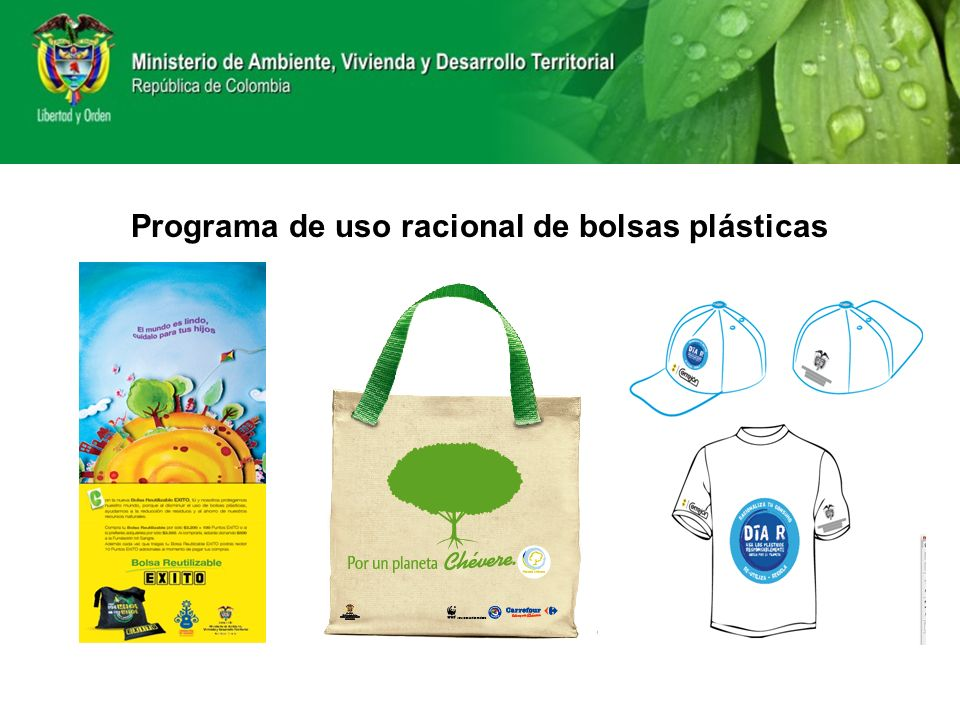 Programa de uso racional de bolsas plásticas