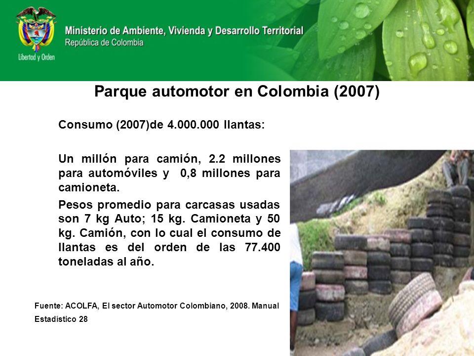 Parque automotor en Colombia (2007)