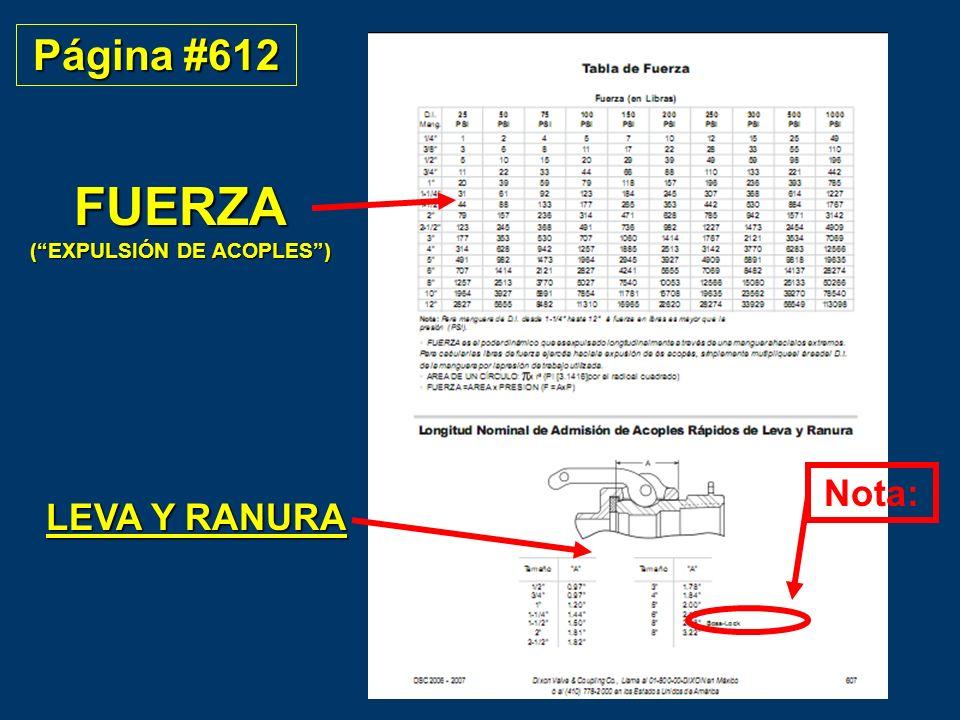 FUERZA ( EXPULSIÓN DE ACOPLES )