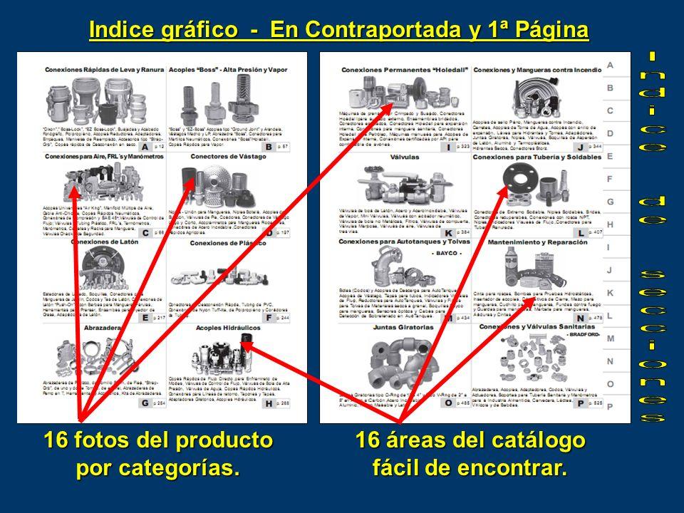 Indice de secciones Indice gráfico - En Contraportada y 1ª Página