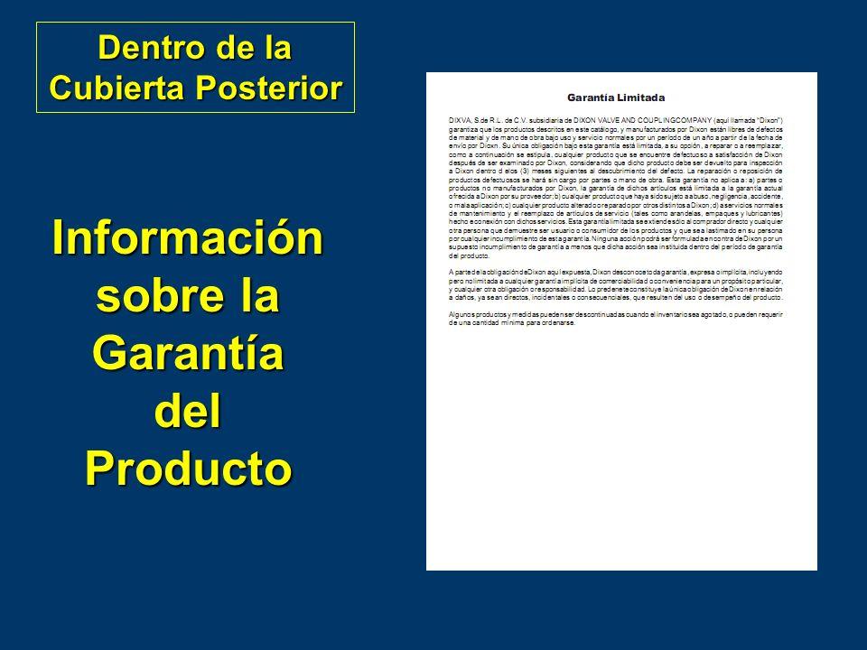 Información sobre la Garantía del Producto