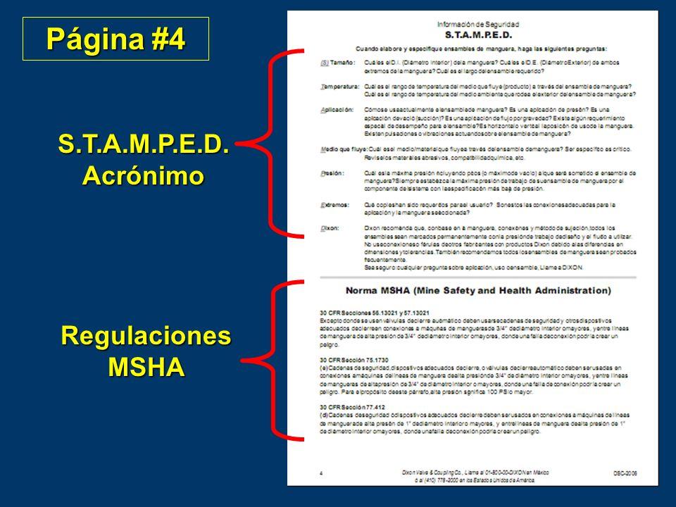 Página #4 S.T.A.M.P.E.D. Acrónimo Regulaciones MSHA