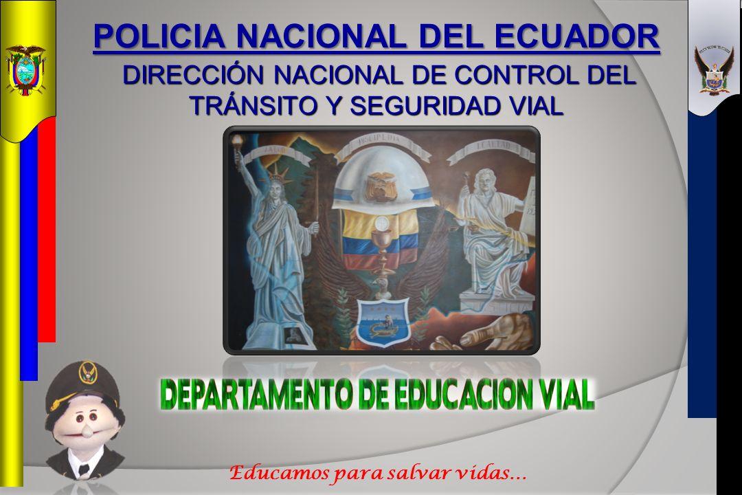 POLICIA NACIONAL DEL ECUADOR Educamos para salvar vidas…
