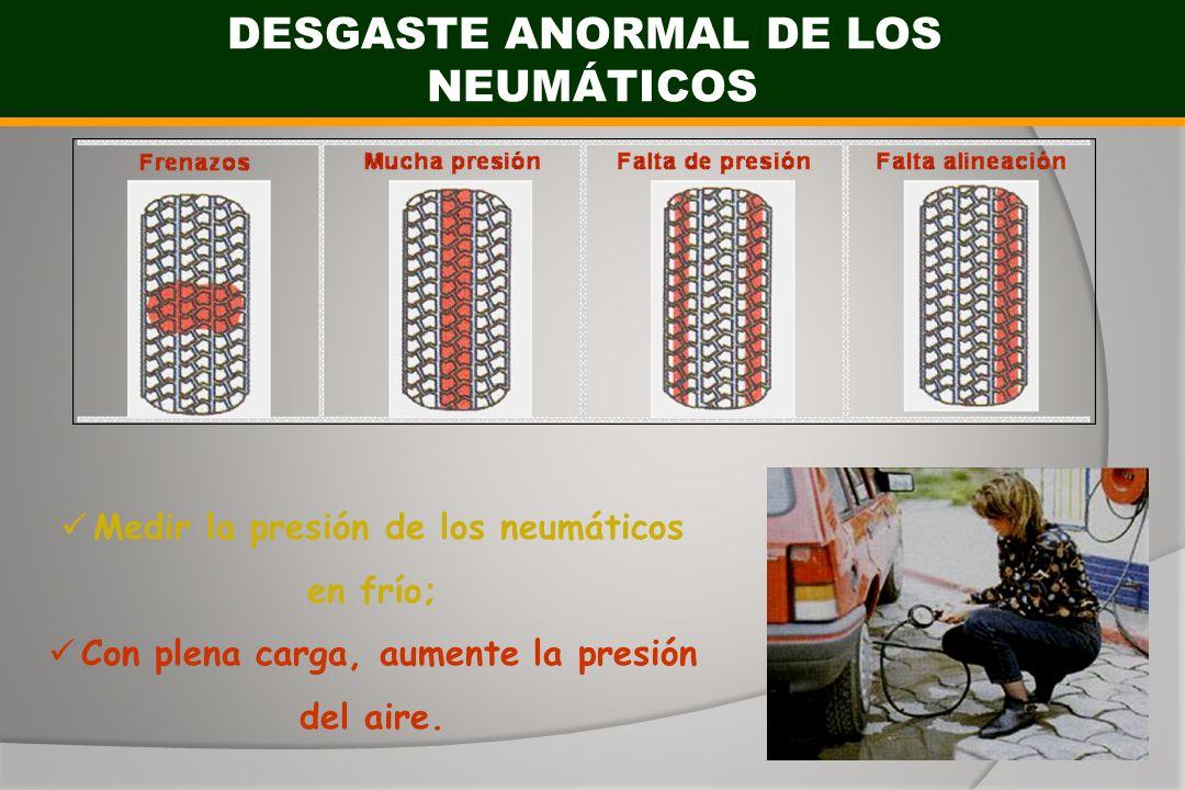 DESGASTE ANORMAL DE LOS NEUMÁTICOS