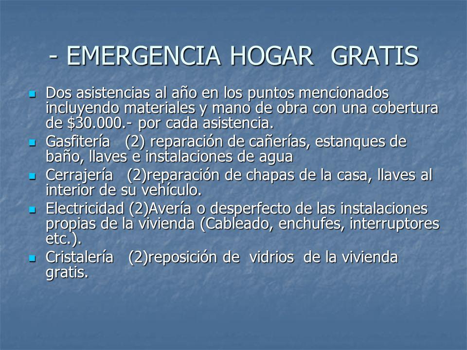 - EMERGENCIA HOGAR GRATIS