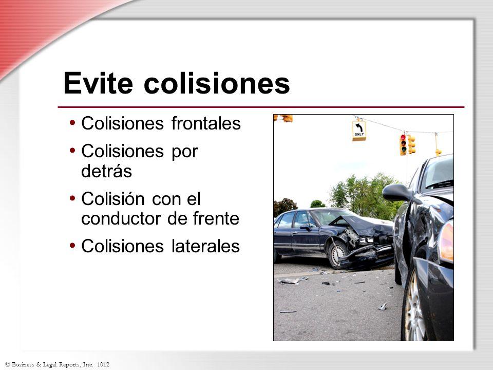 Evite colisiones Colisiones frontales Colisiones por detrás