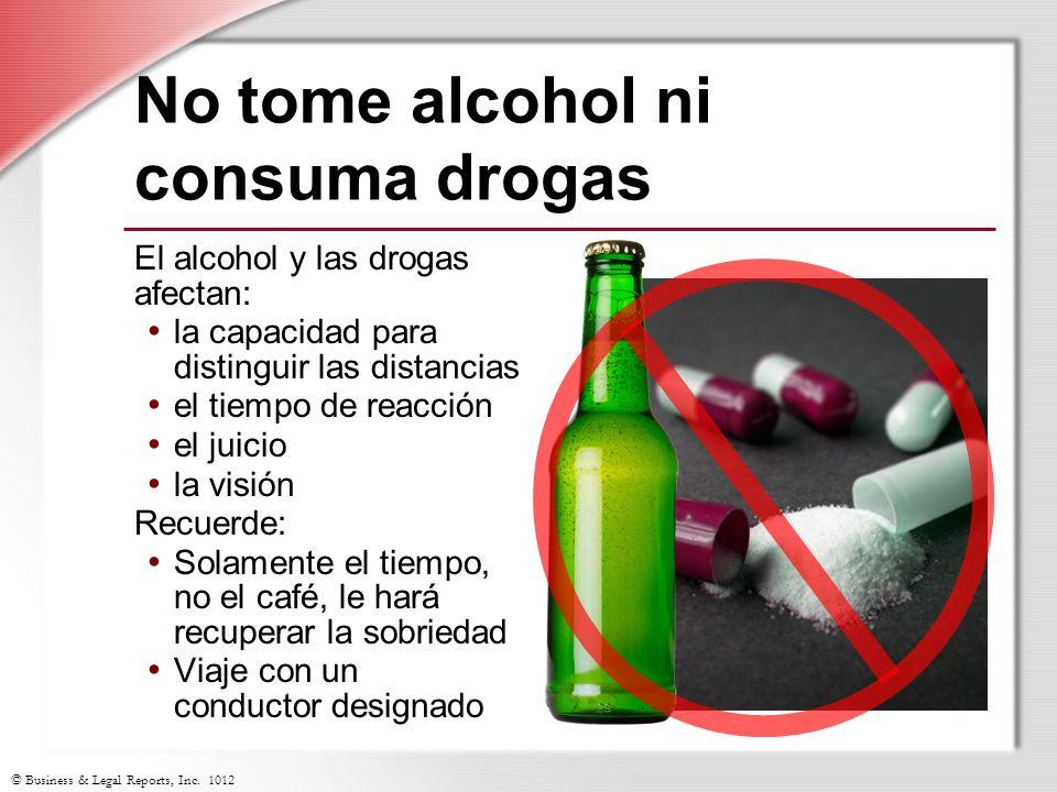 No tome alcohol ni consuma drogas