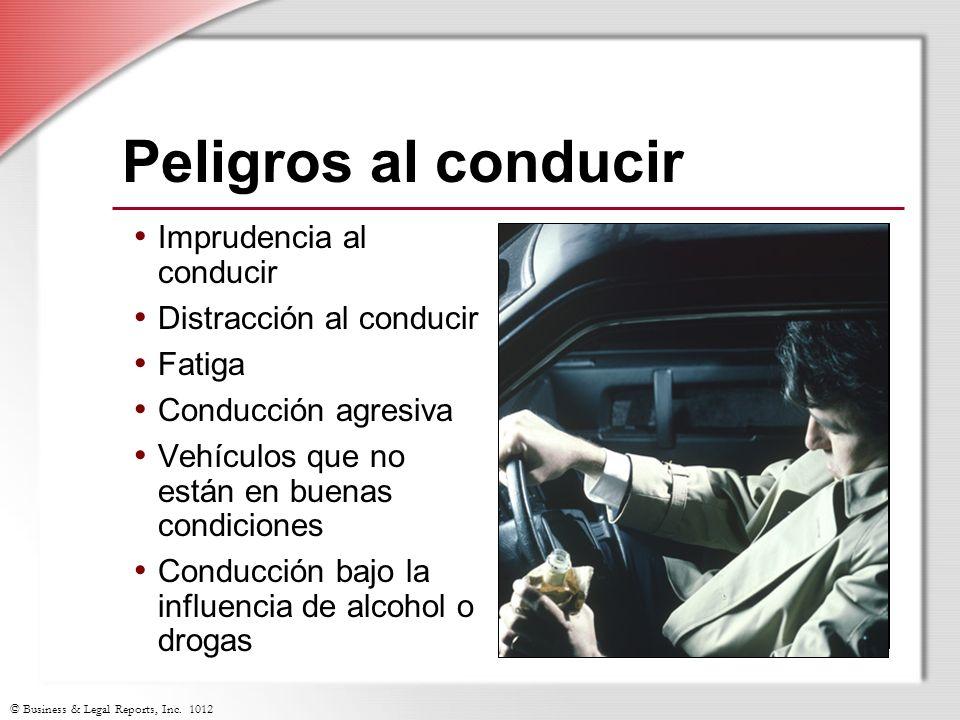Peligros al conducir Imprudencia al conducir Distracción al conducir