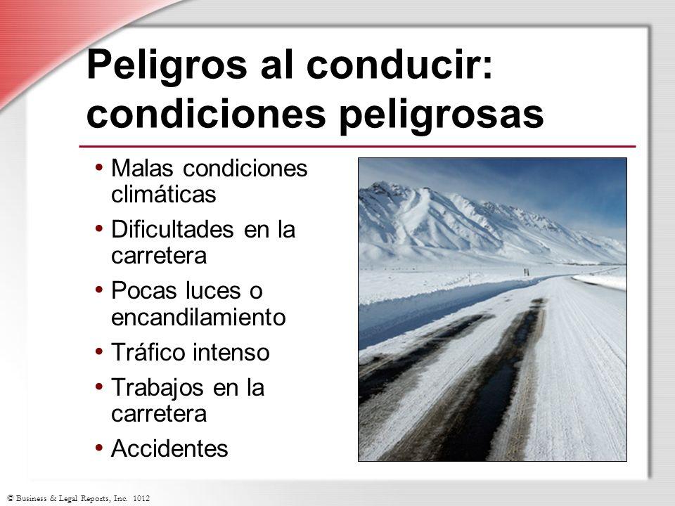 Peligros al conducir: condiciones peligrosas